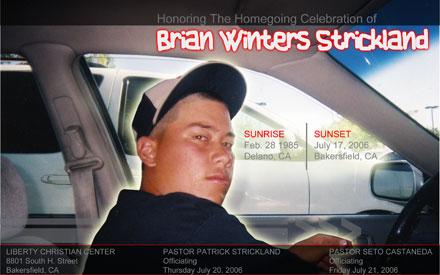 Brian's Funeral Program